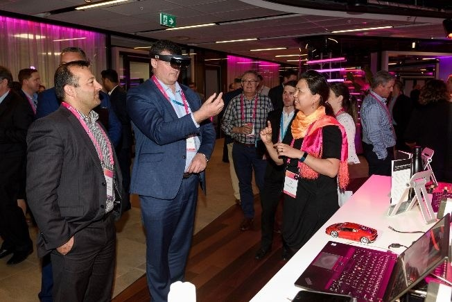 DXC Technology stand at the Telstra Wholesale Business Connect 17 event Partner Zone